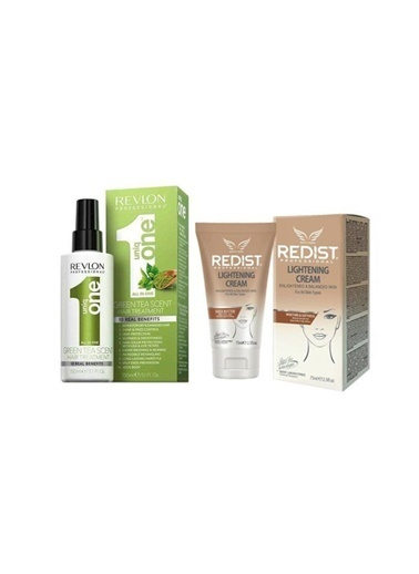 Revlon Revlon Uniq One Green Tea Hair Treatment 150 Ml+Redist Lightening Cilt Beyazlatıcı Krem 75 Ml Renksiz